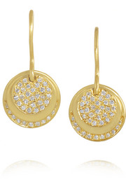 Earth Eclipse 18-karat gold diamond earrings