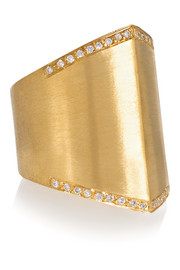 Armor 18-karat gold diamond ring