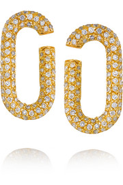 Broken Link 18-karat gold diamond earrings