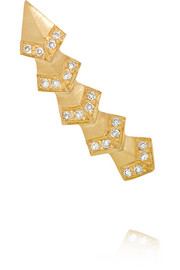 Rombus 18-karat gold diamond earring