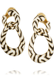 18-karat gold enamel earrings