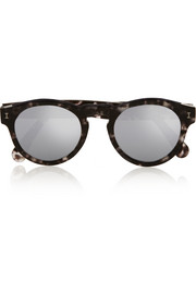 Leonard round-frame acetate mirrored sunglasses