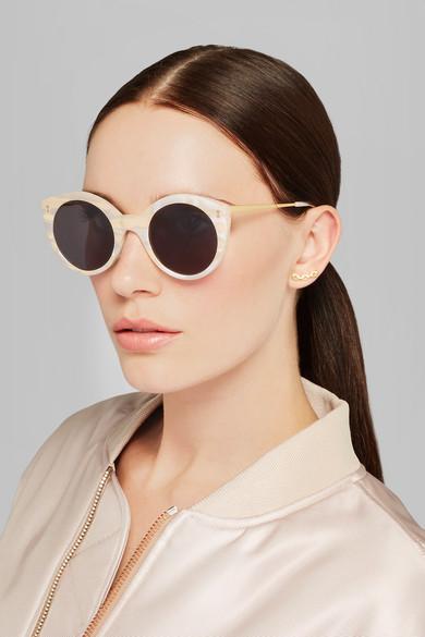 de618afbec2 Illesteva. Palm Beach round-frame acetate sunglasses