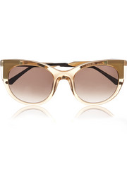 Bunny cat-eye acetate and gold-plated sunglasses