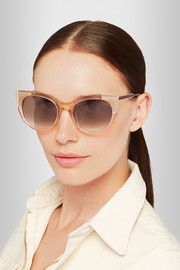 Thierry Lasry Bunny cat-eye acetate and gold-plated sunglasses