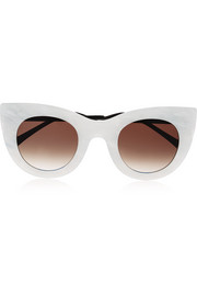 Cheeky cat-eye acetate sunglasses
