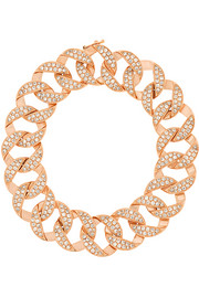 Link 18-karat rose gold diamond bracelet