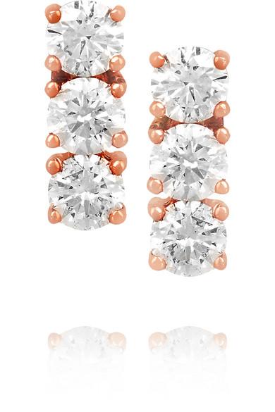 Anita Ko - 18-karat Rose Gold Diamond Earrings