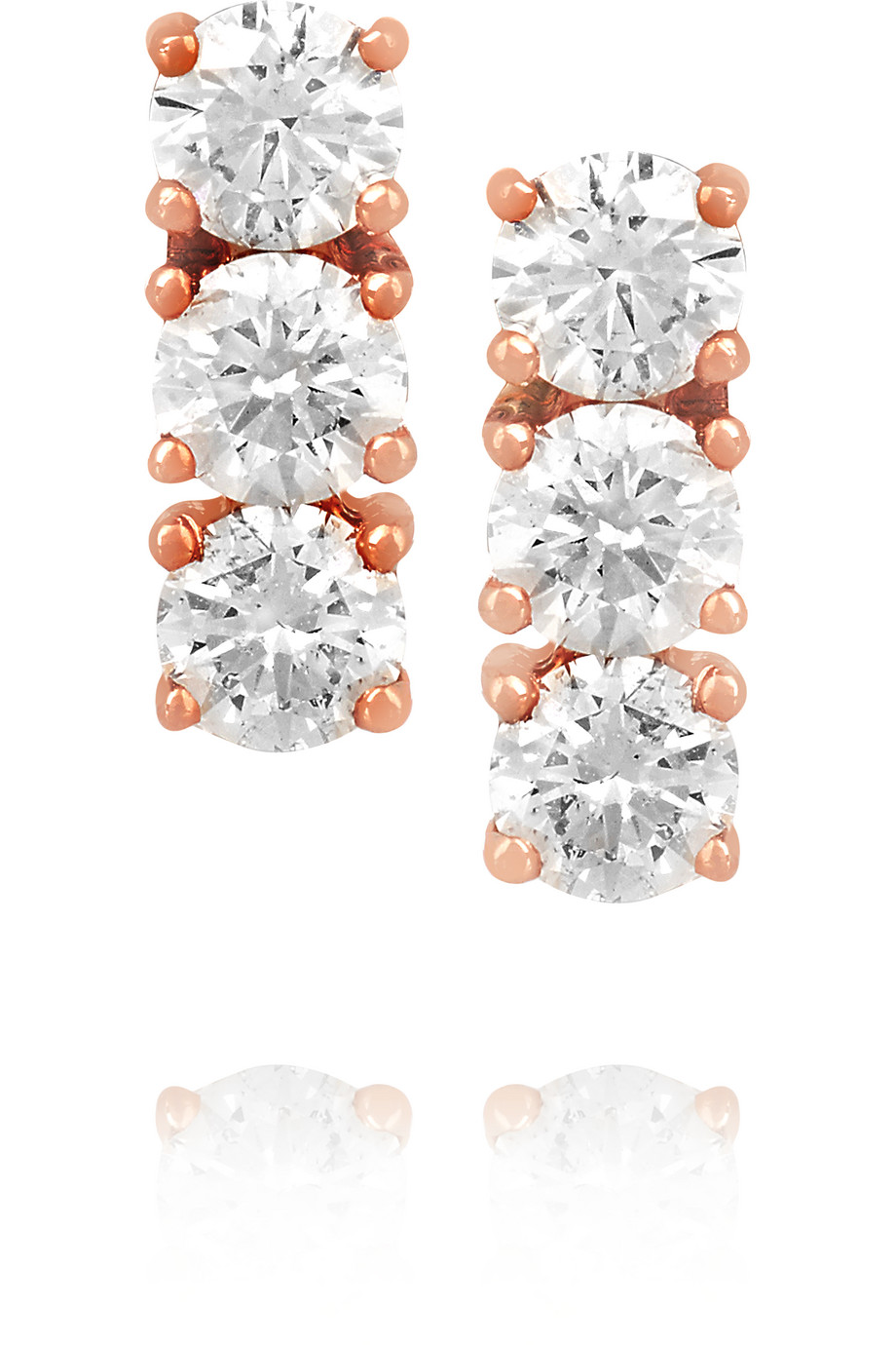 Anita Ko 18-Karat Rose Gold Diamond Earrings, Women's