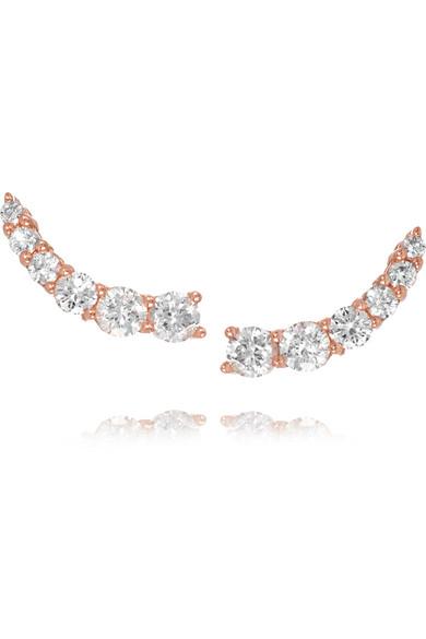 Anita Ko Floating 18-karat Rose Gold Diamond Earrings GuJugTaJS