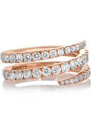 Anita Ko Coil 18-karat rose gold diamond pinky ring