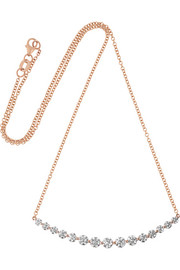 Large Crescent 18-karat rose gold diamond necklace
