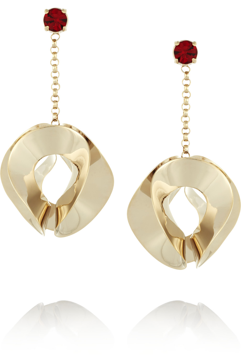 Etro Gold-Plated Crystal Earrings, Women's
