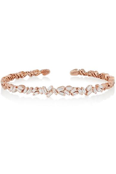 Suzanne Kalan 18-karat Rose Gold Diamond Cuff hpQWdbT