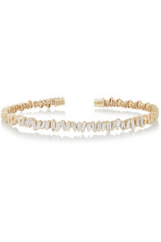 Fireworks 18-karat gold diamond cuff
