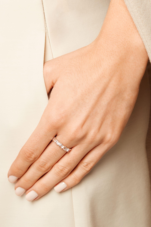 Suzanne Kalan 18-karat rose gold diamond ring