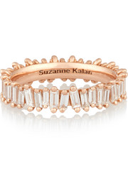 18-karat rose gold diamond ring
