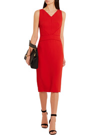 Narciso Rodriguez Satin-trimmed stretch-crepe dress