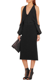 Narciso Rodriguez Fluted textured-crepe skirt