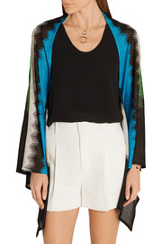 Missoni Metallic crochet-knit wrap