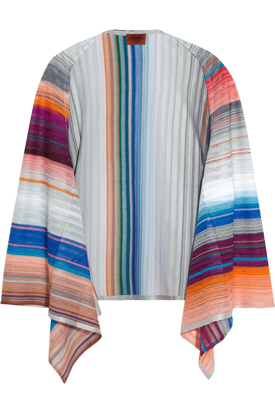 Missoni Crochet-Knit Cardigan, Pink/Gray, Women's