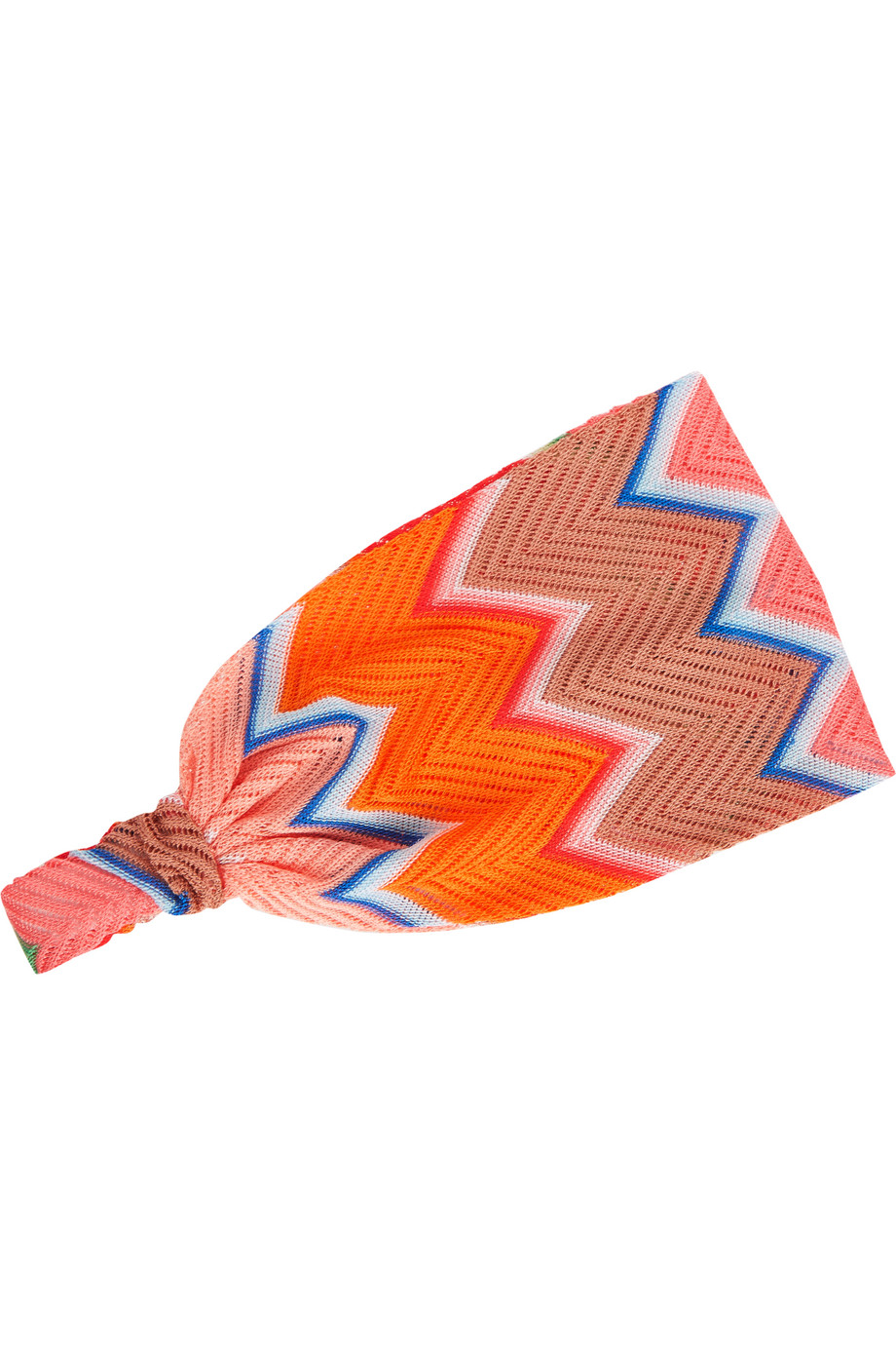 Missoni Crochet-Knit Headband, Pink/Orange, Women's