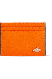 Love Tuxedo textured-leather cardholder