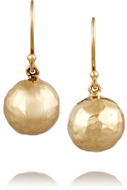 Glamazon Mini hammered 18-karat gold earrings
