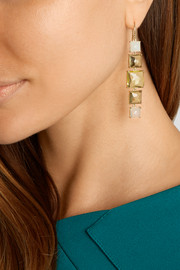 Rock Candy Linear 18-karat gold multi-stone earrings