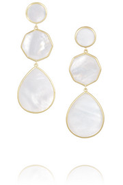 Rock Candy Crazy 8's 18-karat gold mother-of-pearl earrings