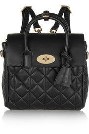 Mulberry + Cara Delevigne mini quilted leather backpack