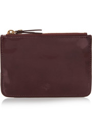 Patent-leather pouch