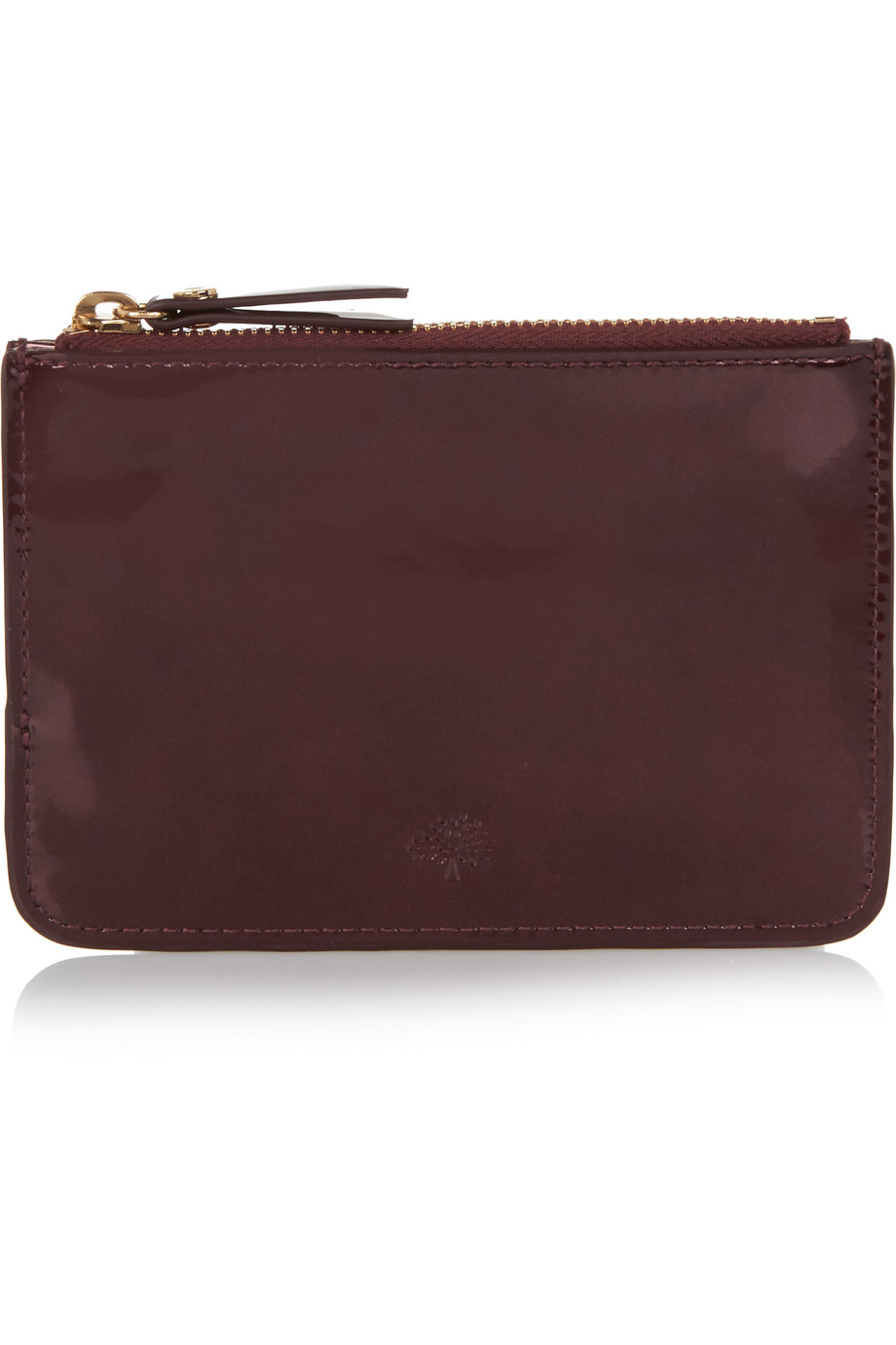 Mulberry Patent-Leather Pouch, Burgundy, Women's