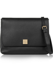 Freya textured-leather shoulder bag