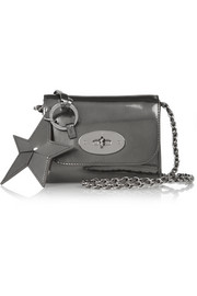 Mulberry Metallic leather keychain