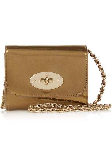 Mulberry. Lily mini metallic patent-leather shoulder bag 77d2993dfa2df