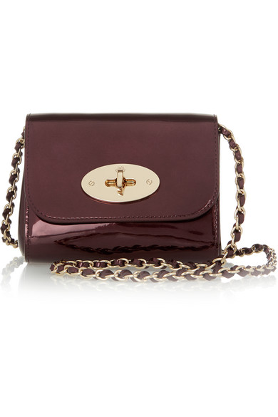69f34d46ec Mulberry. Lily mini metallic leather shoulder bag