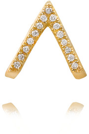 14-karat gold diamond earring
