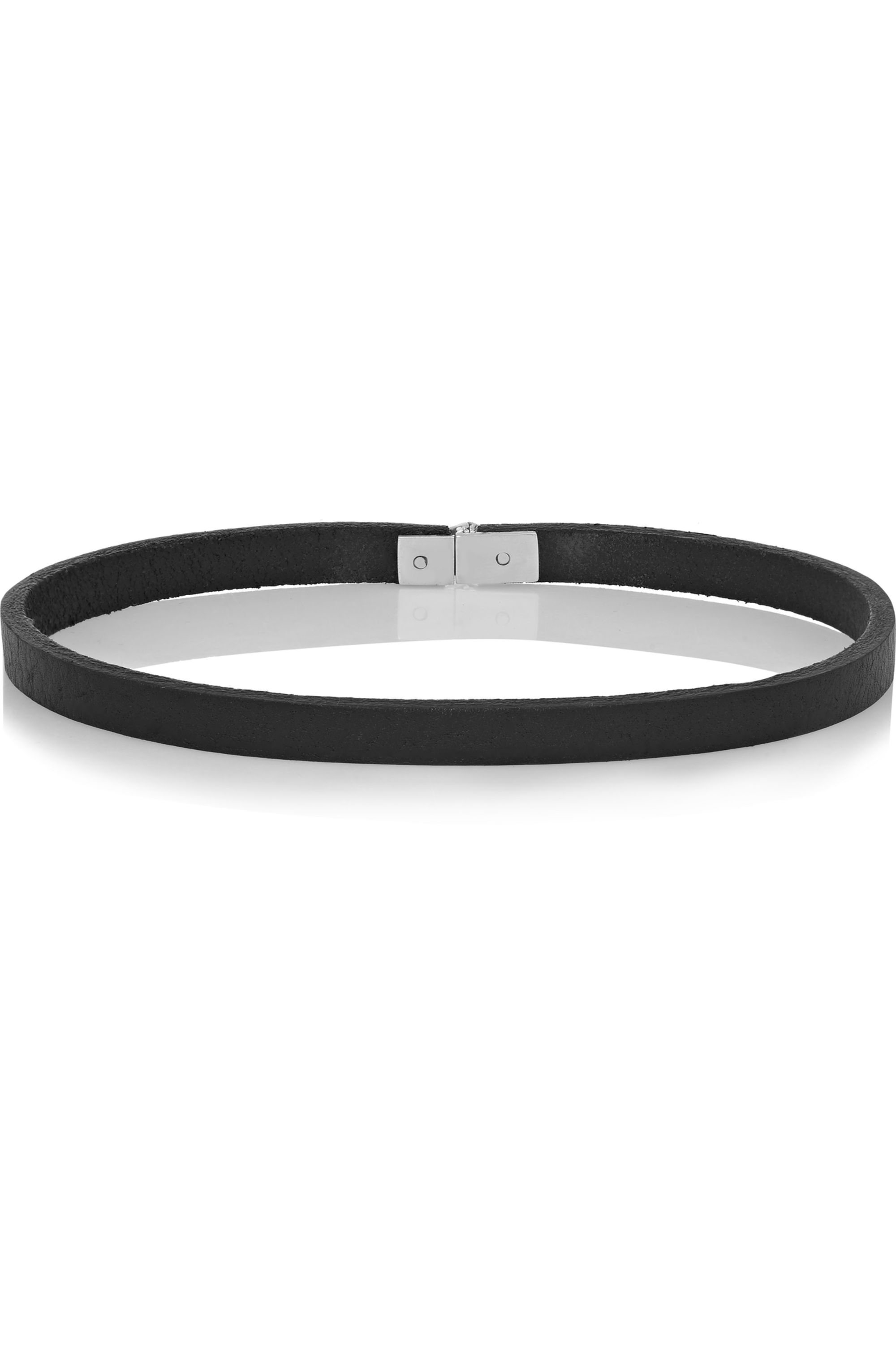 Wendy Nichol Textured-leather and sterling silver choker