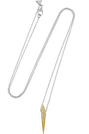 14-karat gold diamond necklace