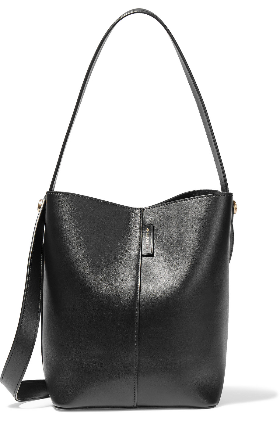 Mulberry Kite Small Leather Shoulder Bag, Black, Women's