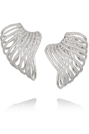 Lynn Ban Sonic sterling silver diamond ear cuffs