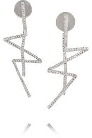 Lynn Ban Flash sterling silver diamond earrings