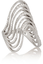 Lynn Ban Crest sterling silver diamond ring