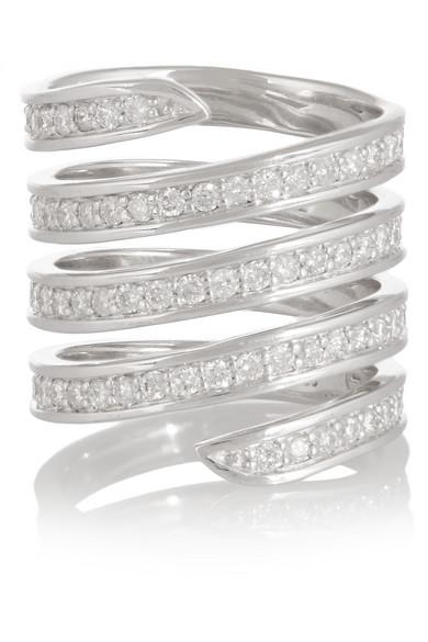 Sterling Silver Diamond Ring Lynn Ban HfQ47fe8j
