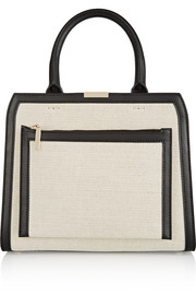 City Victoria canvas and leather tote