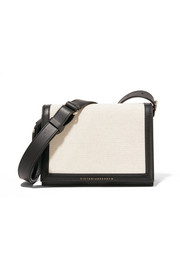 Victoria Beckham Two-tone canvas and leather shoulder bag