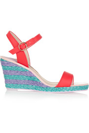 Lucita leather wedge sandals
