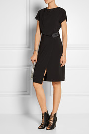 Alexander Wang Belted wrap-effect stretch-crepe dress