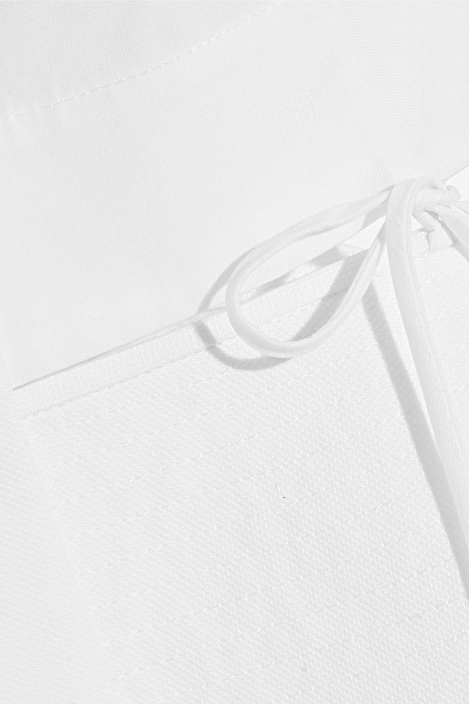 Alexander Wang Cutout piqué-trimmed cotton-poplin shirt